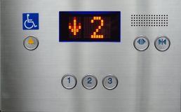 The elevator is going down Royalty Free Stock Photos