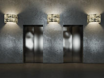 Elevator hall Royalty Free Stock Photography