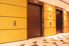 Elevator hallway. Royalty Free Stock Photography