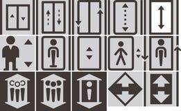 Elevator icons set Stock Images