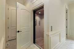 Elevator In New Construction Home Stock Photo