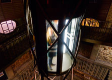 Elevator inside of Prague Astronomical Clock tower Royalty Free Stock Image