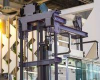 Elevator Installation, Lift Technician Installing a Modern Elevator Stock Image