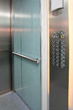 Elevator interior with control panel Royalty Free Stock Photos