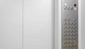 Elevator internal buttons Stock Images