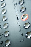Elevator keypad Royalty Free Stock Photo