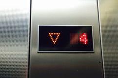 Elevator keypad. Modern elevator keypad in grey number 4 Stock Images
