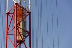 Elevator lift on radio transmitter tower Liblice, Czech republic Stock Photography