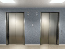 Elevator lobby 2. This graphic is elevator lobby Royalty Free Stock Photos