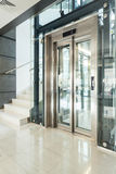Elevator in modern building Royalty Free Stock Photos