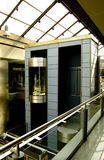 Elevator in modern and futuris. T building Royalty Free Stock Photo