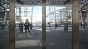 Elevator At New financial District Milan Italy