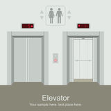 Elevator open and closed doors Stock Images