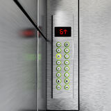 Elevator panel with buttons and LCD display. 3D illustration Royalty Free Stock Photos