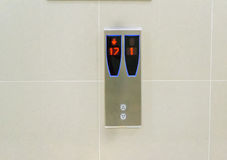 Elevator panel Stock Image