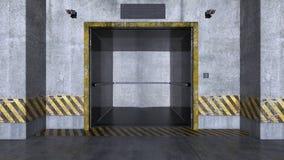 Elevator passage Stock Photo