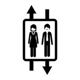 elevator with people inside icon Stock Photography