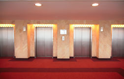 Elevator`s doors Royalty Free Stock Photo