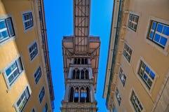 Elevator Santa Justa in Lisbon Royalty Free Stock Photo