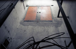 Elevator shaft Stock Image