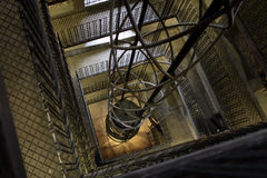 Elevator shaft and staircase Royalty Free Stock Photography