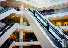 Elevator of Shopping center Stock Images