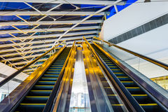 escalator in shopping mall Stock Photography