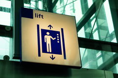 Elevator sign Stock Photography