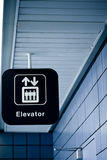 Elevator sign in a public place Stock Photography
