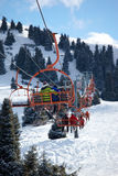 Elevator on ski resort Royalty Free Stock Image