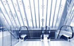 ELEVATOR STAIRS. Entrance to elevator stairs,blue tone Royalty Free Stock Photography