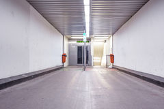 Elevator and stairs in an tunnel Royalty Free Stock Images
