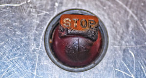 Elevator Stop Botton Stock Image