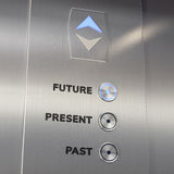 Elevator time machine going to the future Royalty Free Stock Photo