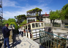 The Elevator to Bom Jesus is pulled by water. Stock Photo