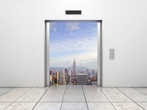 Elevator to city Stock Photography