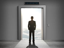Elevator to cloud Royalty Free Stock Photo