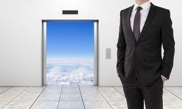 Elevator to sky Stock Images