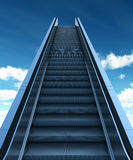 Elevator to the Sky with Clipping Path Royalty Free Stock Images