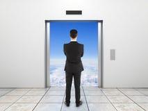 Elevator to sky Stock Photos