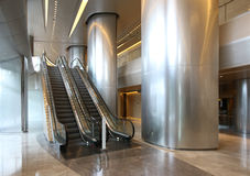 Elevator. White elevator in modern building Stock Photography