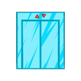 Elevator With Closed Door Icon, Cartoon Style Stock Photography