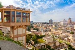 Elevatore Castelletto a Genova, Italia fotografia stock
