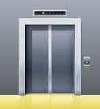 Elevatore con a porta chiusa Fotografia Stock