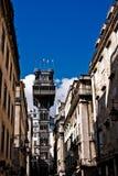 Elevatore della Santa Justa a Lisbona Fotografia Stock Libera da Diritti