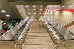 Elevatore della scala della metropolitana di Keramikos fotografie stock