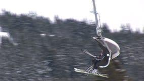 Elevatore dello sci di Saalbach-hinterglemm stock footage