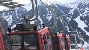 Elevatore dello sci di Saalbach-hinterglemm video d archivio