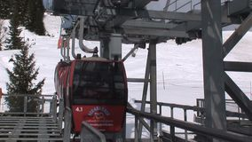 Elevatore dello sci di Saalbach-hinterglemm archivi video