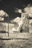 Elevatore di grano bianco Fotografie Stock